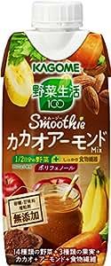 カゴメ 野菜生活100 Smoothie(スムージー) カカオアーモンドミックス 330ml×12本