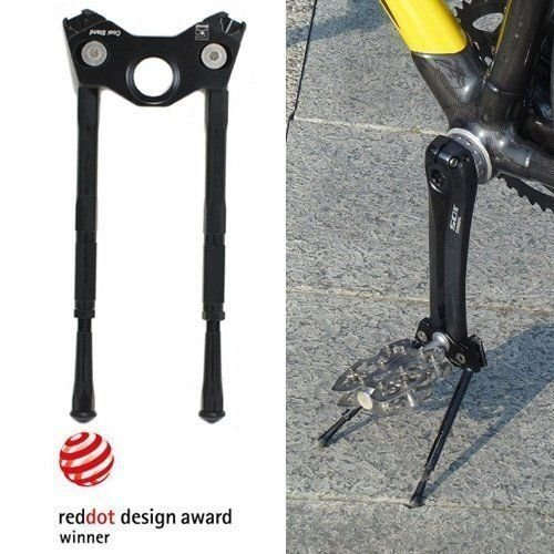Gearoop Bike Bicycle CoolStand Aluminum Adjustable Side Stick 33-39mm, Black #ST1443