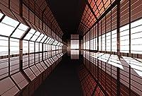 leyiyi 10x 6.5ft Photography Backgroud 3d MysteriousトンネルBackdrop SubwayトラックUndergroundパスエアーポットTrain Stration Underwater Brt Passage Glasses Sunset SunshineフォトPortraitビニールStudio Prop