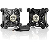 AC Infinity MULTIFAN S5, Quiet Dual 80mm USB Fan for Receiver DVR Playstation Xbox Computer Cabinet Cooling