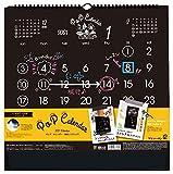 ポップ・カレンダー 壁掛L(ブラック) 2021年 カレンダー 壁掛け CL-1098