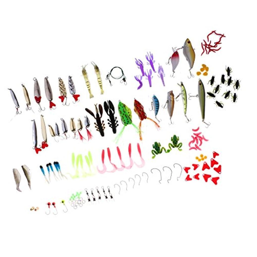 プラカードショップ控えめなBaoblaze 141点入り ルアー クランク フック ライン 釣具 釣りアクセサリー ルアー、餌、フック、シンカー、ビーズ、スイベル、スナップ 湖 川 池 多種組み合せ