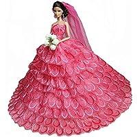 甘いウェディングドレスドール衣類レースドレス11 '人形の手作り