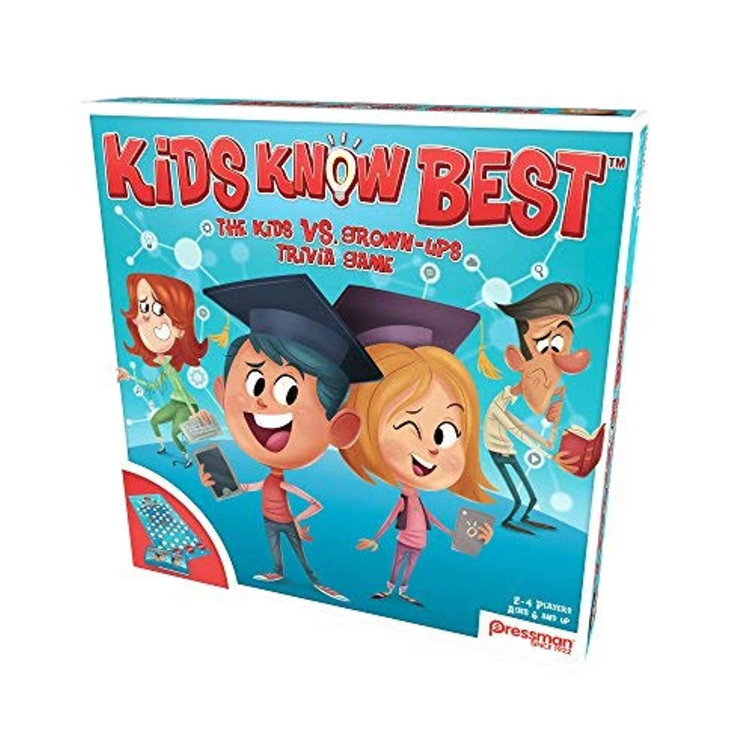 Pressman 2703 Kids Know Best Board Game, Blue [並行輸入品]
