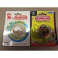 Duncan Yo-Yo String 2 Pack White & Multicolored [並行輸入品]