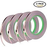 4パック導電性銅箔テープ、粘着回路をEMIシールド撥Slug、ペーパー、電気修理、接地