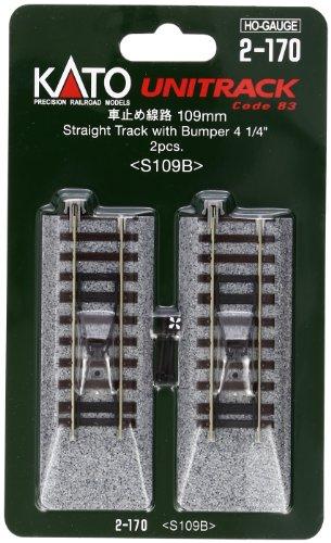 HOユニトラック線路 車止め線路 109mm (2本入) #2-170