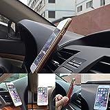 iPhone iPad mini スマホホルダー エアコン 吹き出し口 マグネット 車載ホルダー 360度回転 簡単取付