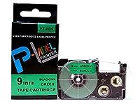 カシオ ネームランド用 互換 テープカートリッジ 9mm XR-9GN 緑地黒文字