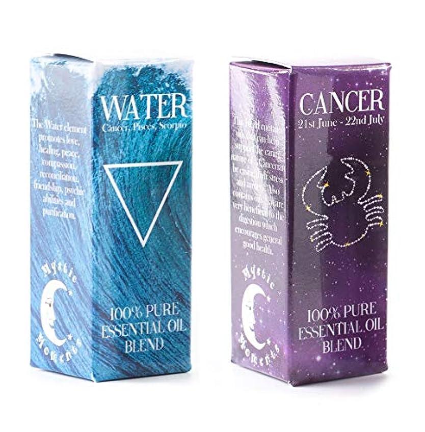推進、動かす知覚聞きますMystic Moments   Water Element & Cancer Zodiac Sign Astrology Essential Oil Blend Twin Pack (2x10ml)