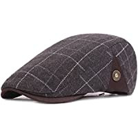Ambysun Men Flat Cap Hat Gatsby Ivy Irish Hunting Newsboy Cap Dad Hat