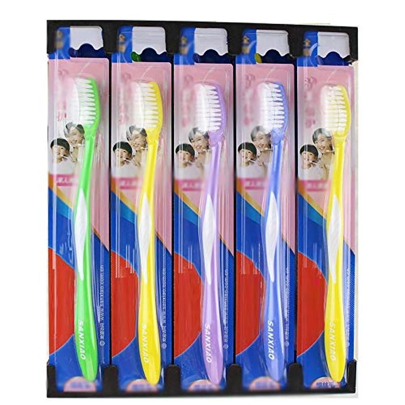 高原緑大脳歯ブラシ 30パック歯ブラシ、ファミリーパック歯ブラシ、歯科衛生の深いクリーニング - 使用可能なスタイルの3種類 HL (色 : A, サイズ : 30 packs)