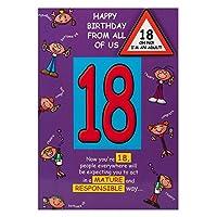 特徴18歳の誕生日カード「ああ、い」 - 中
