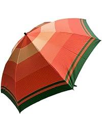 NOBEL レディース 甲州産先染朱子格子生地コンパクト傘 47cm 折りたたみ傘