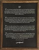 11x 14オークフレーム入り場合Quote Blackboardチョークで書かれたアートカード( 1895)ラドヤード・キップリングの作成者(ジャングル・ブック) Made in America