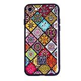 レインボーシリーズケース対応iPhone 7 iPhone 8 耐衝撃 保護カバー 花柄 欧米風のスマホケース 薄くて軽い Qi充電 (iPhone 7/iPhone 8)