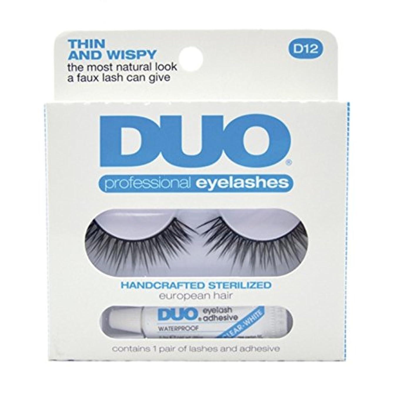可塑性生き物動機付けるDUO Eyelash Adhesive Think and Wispy D12 Eyelashes Thin and Wispy (並行輸入品)