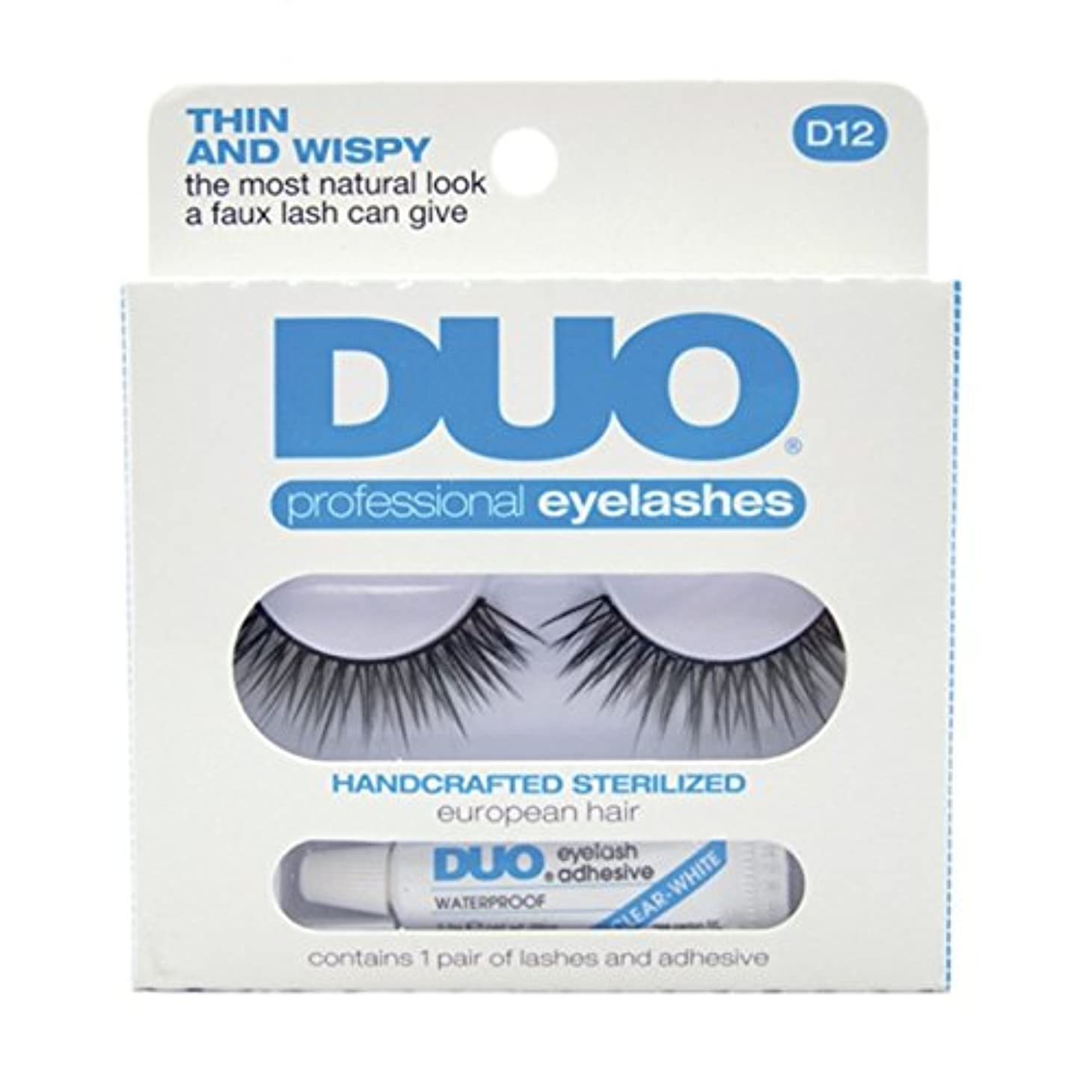 均等に雷雨再びDUO Eyelash Adhesive Think and Wispy D12 Eyelashes Thin and Wispy (並行輸入品)