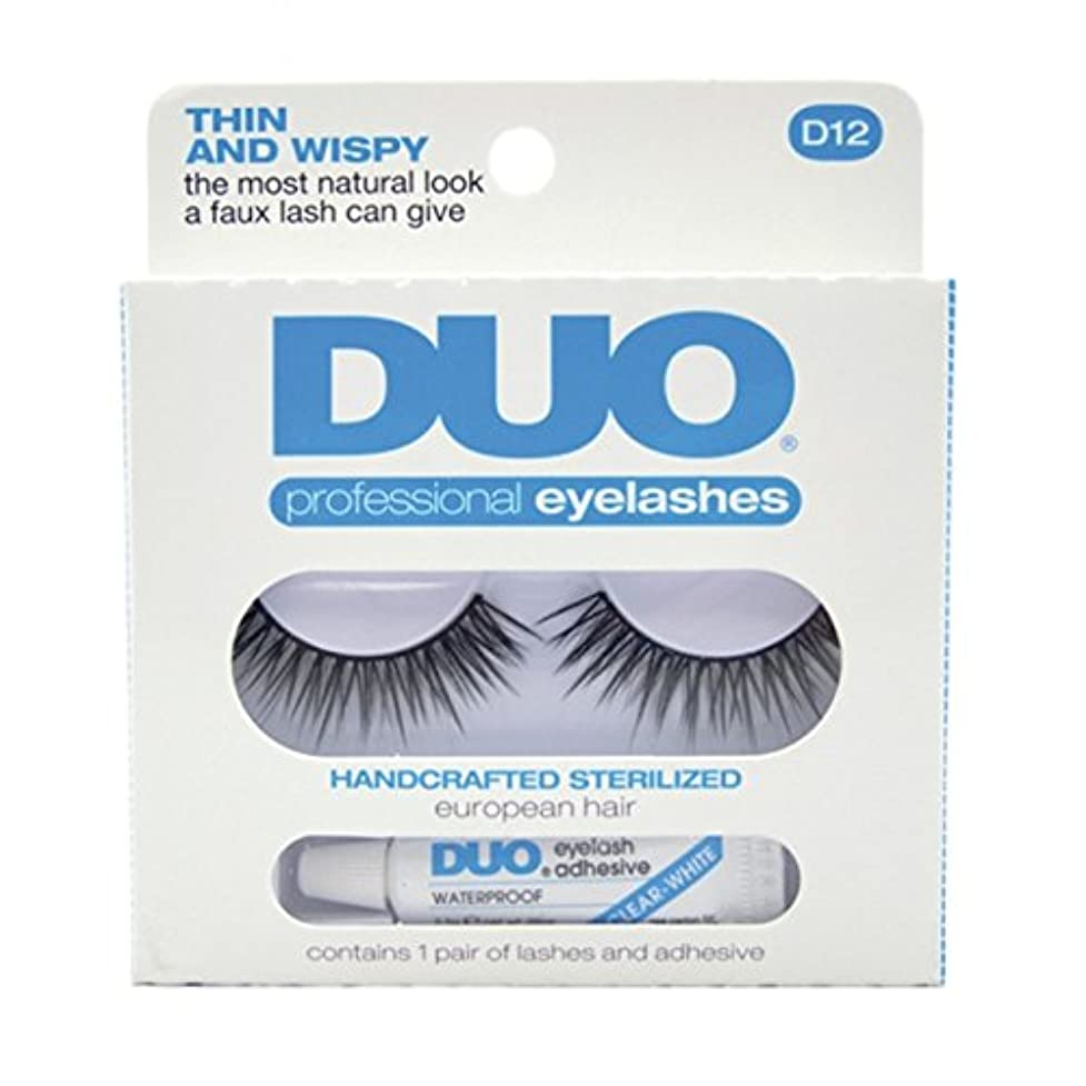 磁気不正直一握りDUO Eyelash Adhesive Think and Wispy D12 Eyelashes Thin and Wispy (並行輸入品)