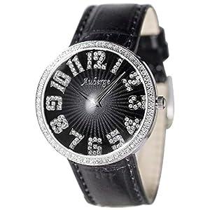 [クレファー]CREPHA 腕時計 ファッション ウォッチ オーベルジュ 革ベルト ブラック AGS-13-BK レディース