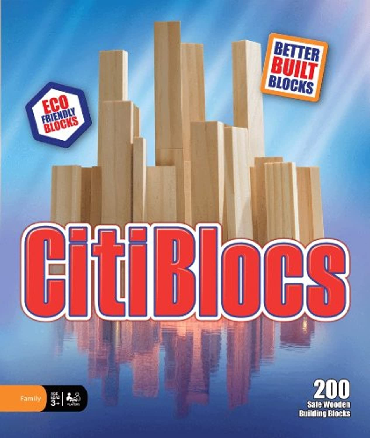 木製ブロック CitiBlocs シティブロックス ナチュラルカラーセット200ピース