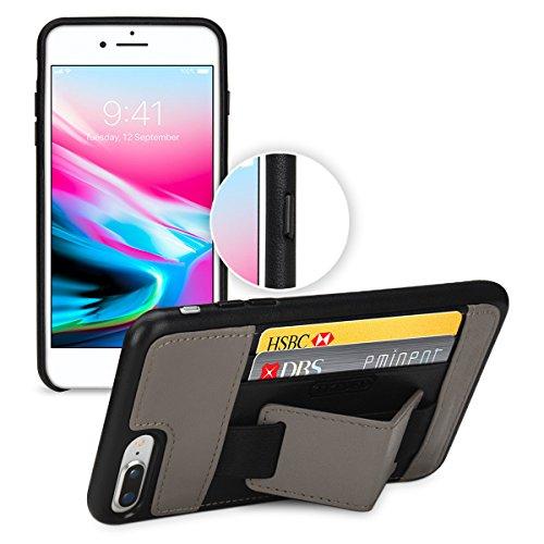 [해외]TETDEDiPhone 8 Plus | iPhone 7 plus 케이스 가죽 (소 가죽) 수제 카드 수납 심플 스탠드 기능 초박형 뒷면 커버 Apple iPhone 8 Plus 용./TETDEDiPhone 8 Plus | iPhone 7 plus Case Genuine leather (cowhide) handmade card storage ultra-thin ...