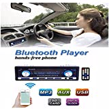 AUDEW 車載 カーオーディオ Bluetooth MP3 / WMA / WAV / FLAC / APEの再生に対応 USB / SD対応 AUX ISO付属 ハンズフリー通話