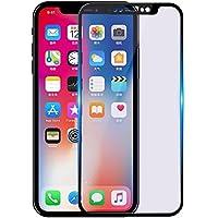 iPhone X ガラスフィルム iPhone XS ガラスフィルム 5.8インチ 液晶保護フィルム iPhone X/XS兼用ガラスフィルム 薄型 高感度タッチ 気泡ゼロ 指紋防止 防爆裂スクラッチ防止 硬度9H 3D全面保護 高透過率 ブルーライトカット ソフトフレーム 厚さ0.26mm 3Dtouch対応 (iPhone X/iPhone XS ブラック)