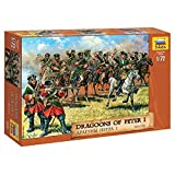 "ZVEZDA 8072 - Dragoons of Peter I 1701-1721 - Plastic Model Kit Scale 1/72 1"" 19 Soldiers"