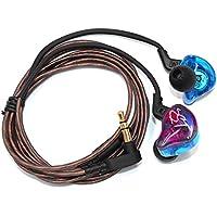 walmeck有線イヤホン耳にヘッドフォンHIFI音楽イヤホンwith交換用イヤホンケーブルイヤホン提供ステレオ&クリスタルクリアサウンド, UMV5552673612166SI