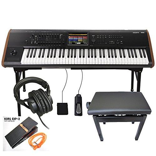 KORG キーボード シンセ KRONOS 73 (エレピ奏者に最適!角形ピアノイス、エクスプレッションペダル付きセット)