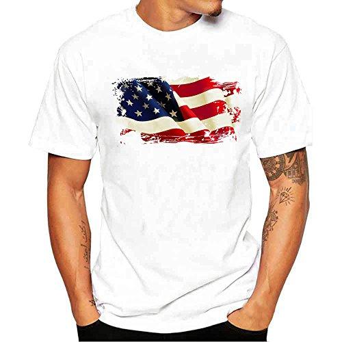 Tシャツ Hosam メンズtシャツ 丸首 半袖 白t プリ...