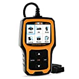 ANCEL AD410 OBD II 自動車 コードリーダー 車輌 故障診断機 チェックエンジンライト スキャン ツール 自動 OBD2スキャナー I/M Readiness付き (オレンジ)