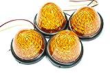 選べる5色 LED 16 発 サイド バス マーカー ライト ランプ 【ADVANTAGE】 トラック 24V 12V 車 に (e . アンバー4個)