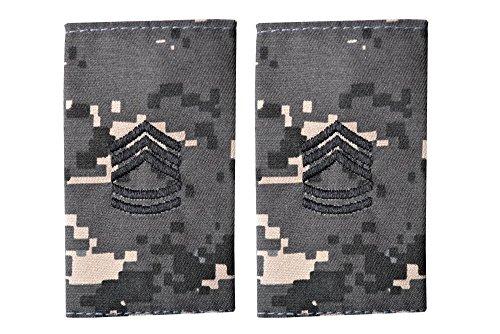 5 米陸軍 肩章 エポーレット 2枚入 階級章 1等軍曹 ワッペン レプリカ ピクセルグレー迷彩