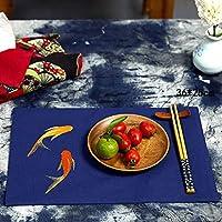 プレースマット プレースマット絶縁パッド布中国綿とリネンマニュアル食事パッドパッドボウルマット (色 : F f)