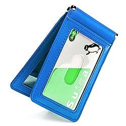 [メグレイ] 定期入れ パスケース バタフライ 柔らかレザー 穴が空いて取り出しやすい 4色 オリジナル ギフト包装 (レガッタブルー)