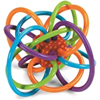 Manhattan Toy Winkel Rattle and Sensory Teether Activity Toy 5L x 3.5H x 4W-Inch [並行輸入品]