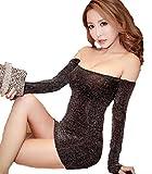ラメ入り 柔らか スパンコール ドレス 3色 Tショーツ セット ストレッチ 素材 ボディコン ワンピース (シルバー)