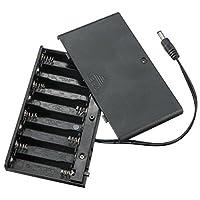 Prament DIY 12v 8 x AA 電池ホルダーボックスケースリードスイッチ