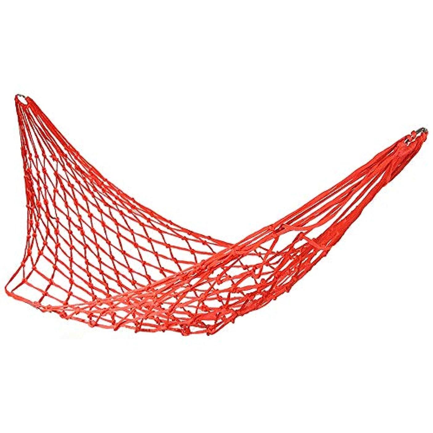 決定するますます天井ロープハンモック、旅行キャンプのハンモックアウトドアスポーツハンモック快適なハンギングナイロンメッシュロープハンモック、キャンプ、ビーチ