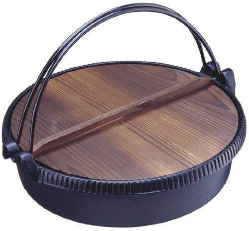 イシガキ産業 味の匠 深型・木ふた付き すき焼鍋 26cm 2801