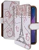 LG style L-03K ケース 手帳型 パリ ピンク おしゃれ スマホケース エルジースタイル 手帳 カバー lgstyle l03k l03kケース l03kカバー エッフェル塔 パリ柄 [パリ ピンク/t0652e]