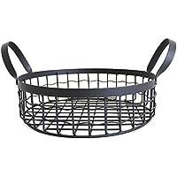 Fortem ワイヤーバスケット 収納 バスケット キッチン収納 ハンドル付き 多用途 シンプル おしゃれ