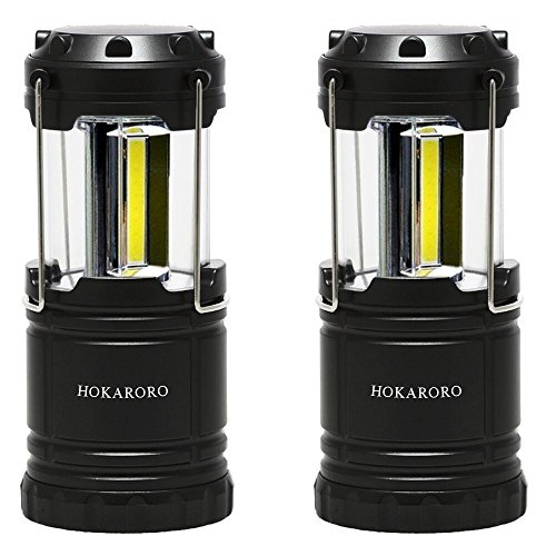 「HOKARORO」LEDランタンCOB電池式スライド折り畳み式防災対策アウトドア携帯型テントキャンプ用2個セット