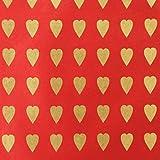 Simoon (シムーン) 壁紙 ロクタ紙 プリント ハートハート・レッドゴールド 75x51cm SW-25 C10A