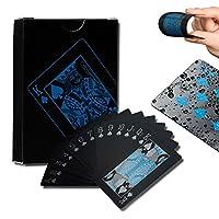 トランプ 一つデック黒い色 防水樹脂製 フレックスカード 楽しいように [並行輸入品]