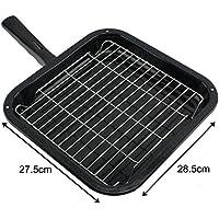 spares2go Small Squareグリルパン、ラック&取り外し可能ハンドルfor Hygenaオーブン調理器