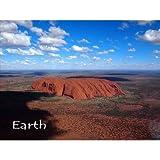 【限定地球のポストカード】「Earth」ウルル(Uluru)はオーストラリア大陸エアーズロック(Ayers Rock)の葉書はがきハガキ