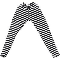 Lovoski 1/6  レギンス  タイツ  パンツ ニットコットン製  BJDブライスドール対応 衣類  アクセサリー 全5色選べる  - ブラック